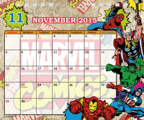 卓上 MARVELマーベルコミック カレンダー